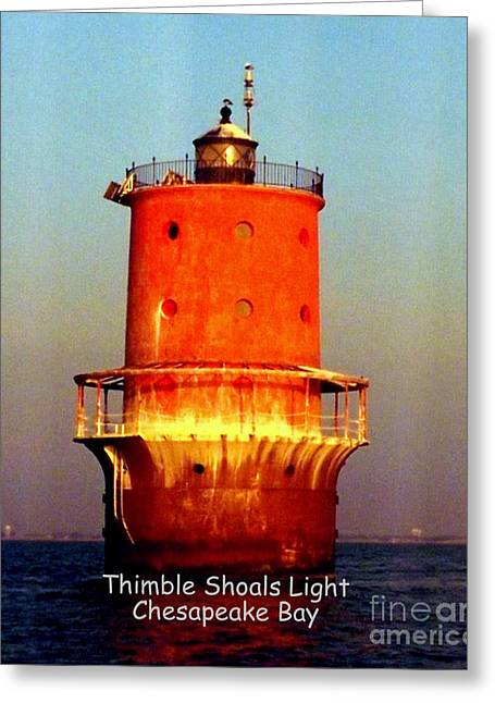 Thimble Shoals Light Greeting Card