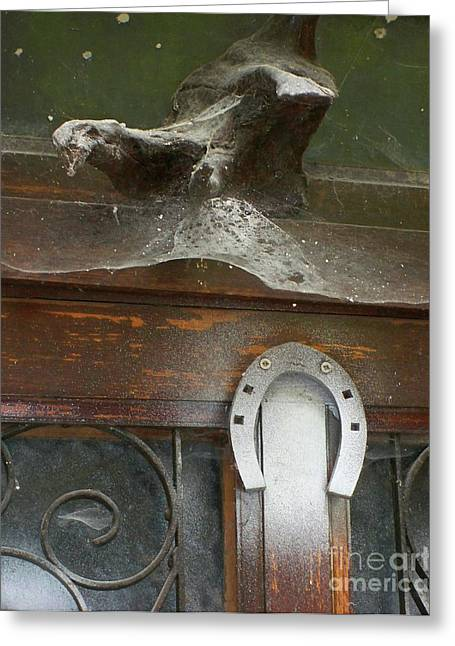 Greeting Card featuring the photograph Thing Above The Door by Newel Hunter