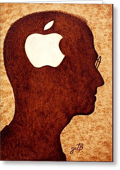 Think Different Tribute To Steve Jobs Greeting Card by Georgeta  Blanaru
