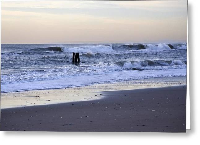 Think Metal - Morning Ocean Rockaways Greeting Card