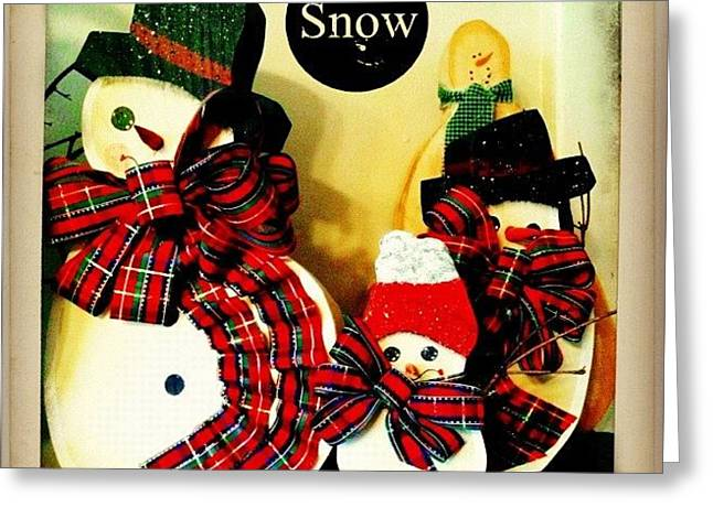Think Snow! #decoration #snow Greeting Card