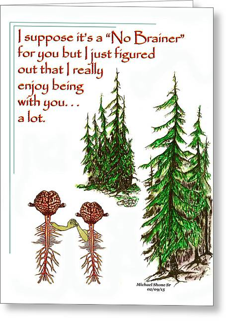 Thinking Of You And I Like Being With You  Greeting Card by Michael Shone SR