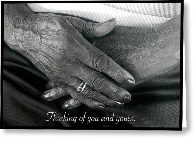 Thinking Of You And Yours. Greeting Card by Harold E McCray