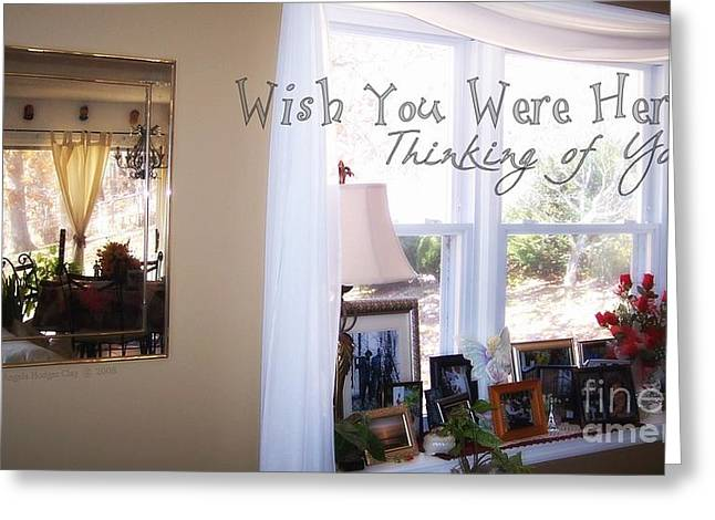 Thinking Of You Greeting Card by Angelia Hodges Clay