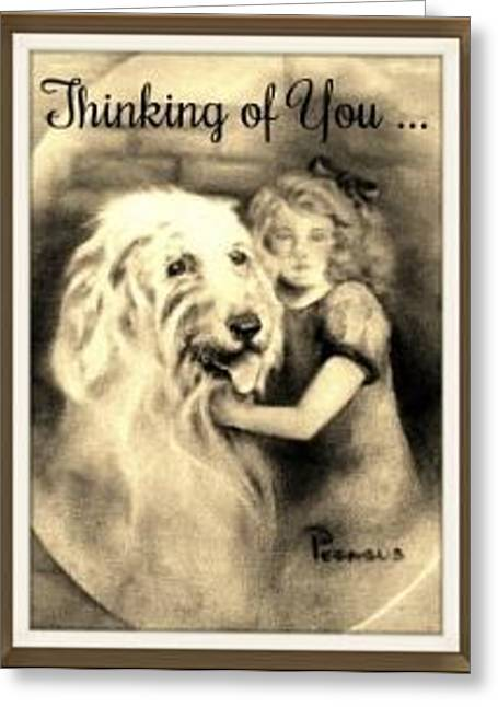 Thinking Of You - Vintage Collection Greeting Card
