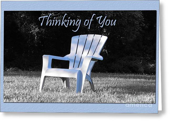 Greeting Card featuring the digital art Thinking Of You Waiting by JH Designs