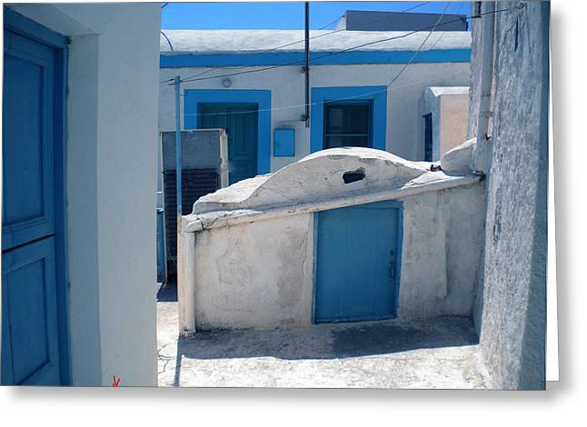 Thirasia Santorini Island Hause Greeting Card