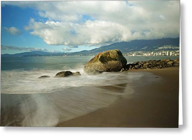 Third Beach In Vancouver Greeting Card by Ann  Badjura