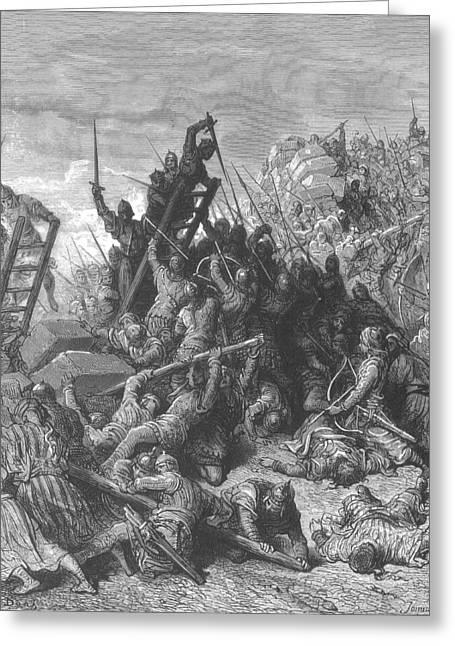 Third Crusade, Siege Of Acre, 1189-91 Greeting Card