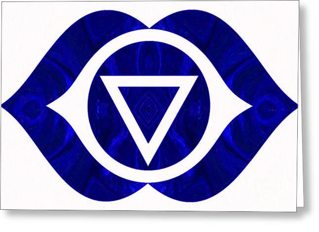 Third Eye Abstract Chakra Art By Omaste Witkowski  Greeting Card by Omaste Witkowski