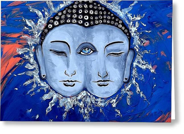 Third Eye Chakra Healing And Energy Indigo Greeting Card