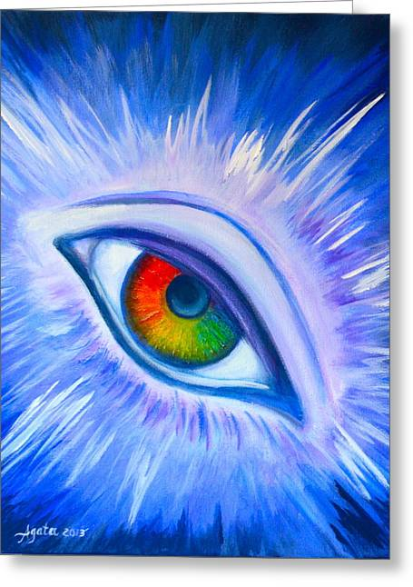 Third Eye Diamond Greeting Card