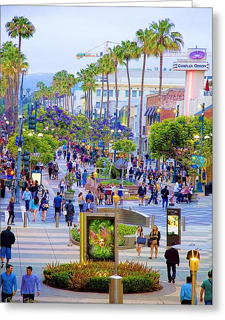 Third Street - Santa Monica Greeting Card by Chuck Staley