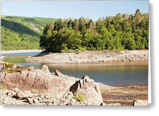 Thirlmere Reservoir In Drought Greeting Card by Ashley Cooper