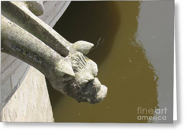 Thirsty Gargoyle Greeting Card