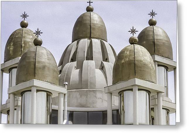 Thirteen Gold Domes Greeting Card by Julie Palencia