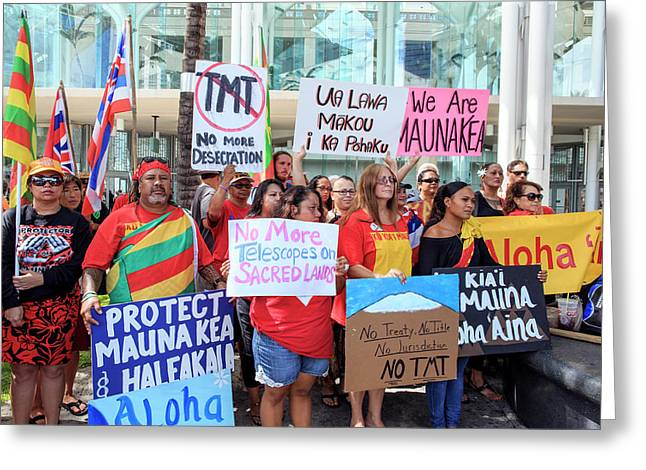 Thirty Meter Telescope Protest Greeting Card