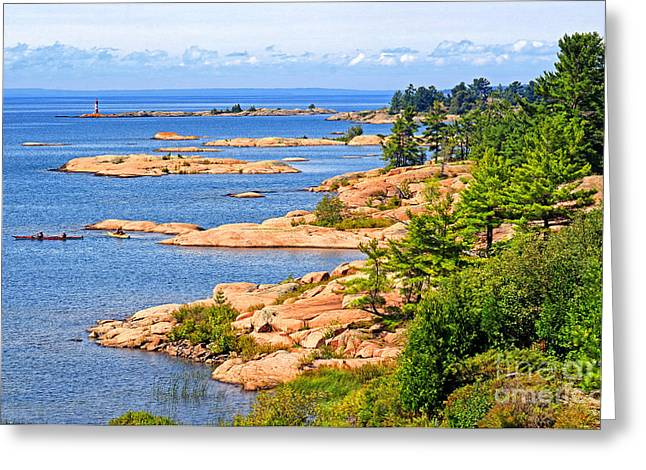 Thirty Thousand Islands Greeting Card by Charline Xia
