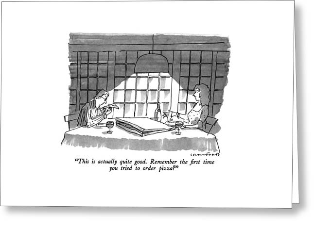 This Is Actually Quite Good.  Remember The First Greeting Card by Michael Crawford