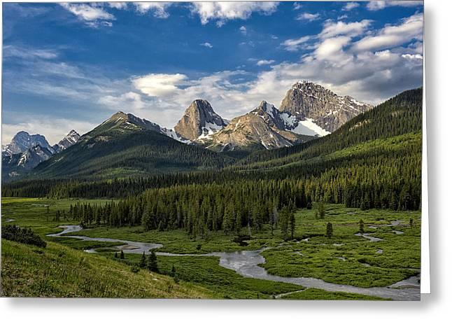 This Is Alberta No.27 - Spray Valley Peaks Greeting Card by Paul W Sharpe Aka Wizard of Wonders