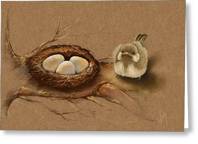 This Is My Nest? Greeting Card by Veronica Minozzi