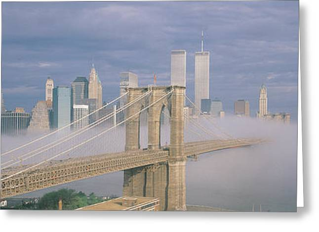 This Is The Brooklyn Bridge Greeting Card by Panoramic Images