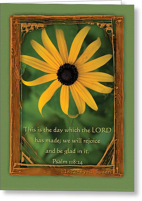 This Is The Day Sunflowers Greeting Card
