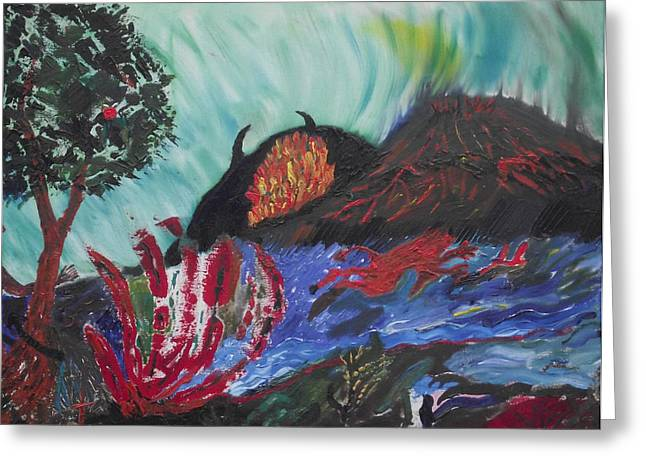 Greeting Card featuring the painting This Is Your World by Martin Blakeley