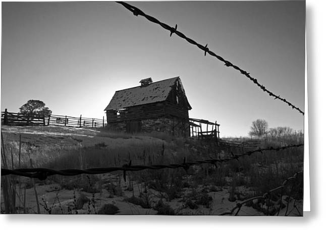Greeting Card featuring the photograph This Old Barn by Eric Rundle