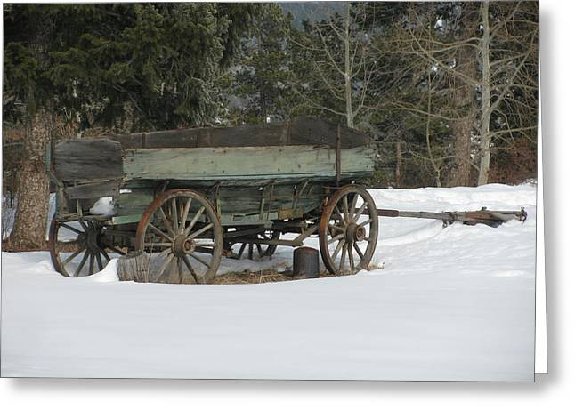 This Old Wagon Greeting Card by Steven Parker