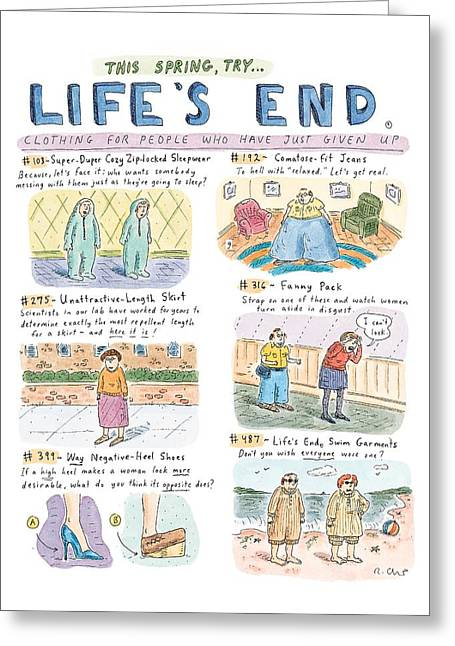 This Spring Try Life's End:  'clothing For People Greeting Card