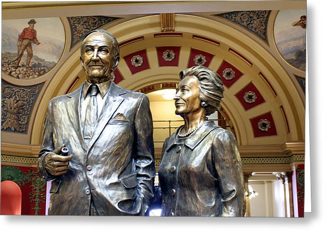 This Statue Of Maureen And Mike Mansfield Greeting Card by Larry Stolle