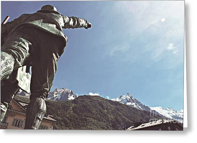 This Way To The Aiguille Du Midi Greeting Card