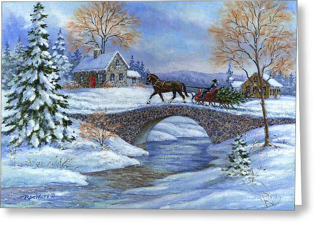 This Years Tree Greeting Card by Richard De Wolfe