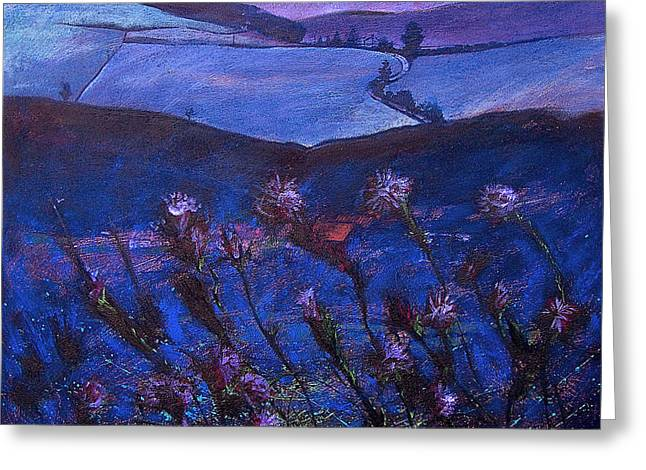 Thistle Fryup Greeting Card by Neil McBride