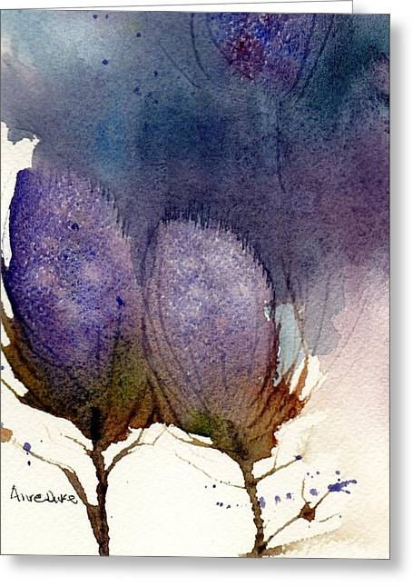 Greeting Card featuring the painting Thistle Weather by Anne Duke