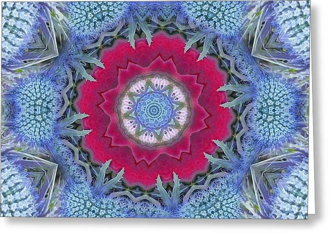 Thistle Portal Mandala Greeting Card