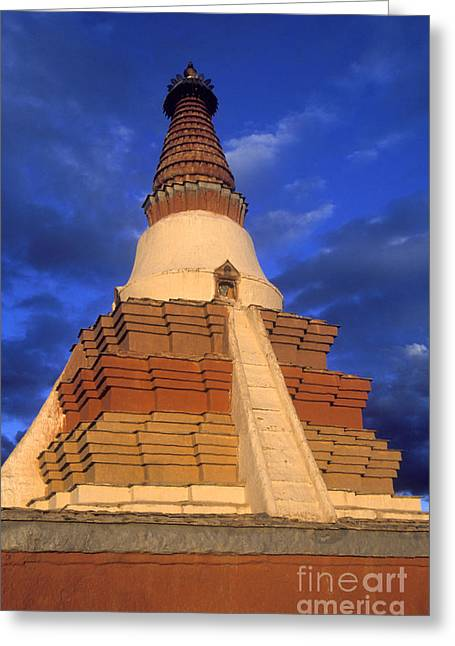 Tholing Stupa Guge Tibet Greeting Card by Craig Lovell