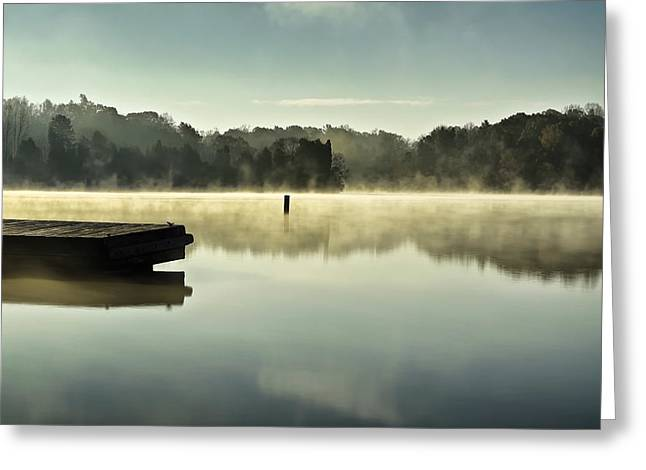 Thom-a-lex Misty Morning Greeting Card by Patrick M Lynch