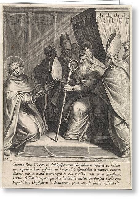 Thomas Aquinas Declines The Post Of Archbishop Of Naples Greeting Card
