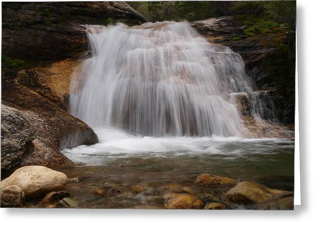 Greeting Card featuring the photograph Thomas Canyon Waterfall by Jenessa Rahn