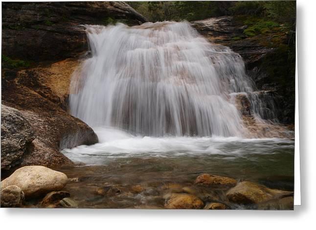 Thomas Canyon Waterfall Greeting Card by Jenessa Rahn
