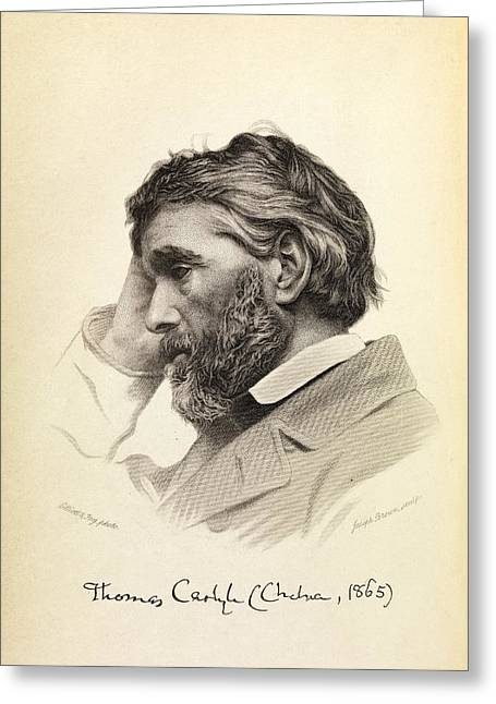Thomas Carlyle Greeting Card