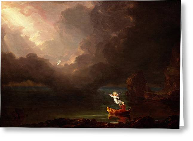 Thomas Cole American, 1801 - 1848, The Voyage Of Life Old Greeting Card