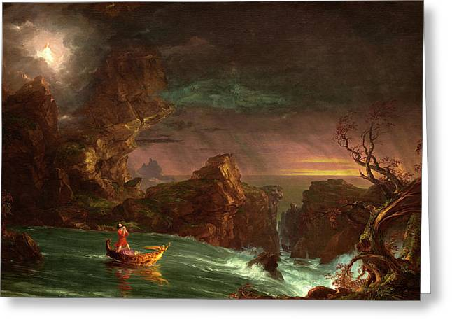 Thomas Cole American, 1801 - 1848, The Voyage Of Life Greeting Card
