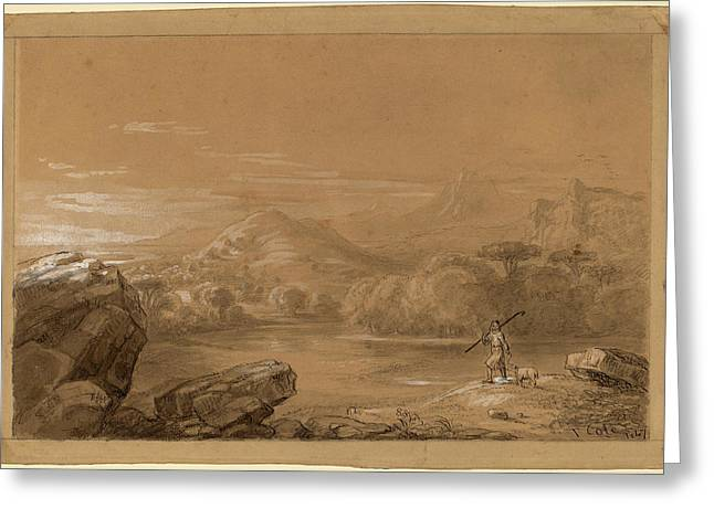 Thomas Cole, The Good Shepherd, American Greeting Card