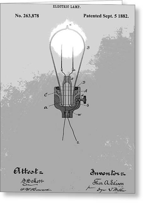 Thomas Edison Patent Greeting Card by Dan Sproul