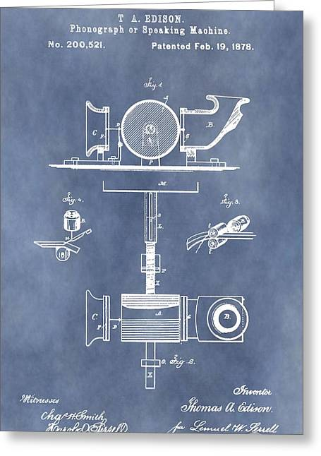 Thomas Edison's Phonograph Greeting Card