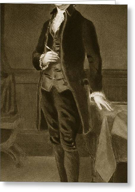 Thomas Jefferson Greeting Card by Eliphalet Frazer Andrews