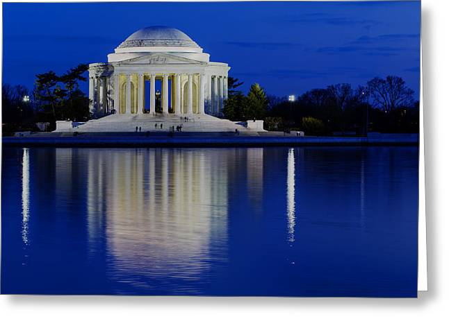 Thomas Jefferson Memorial Greeting Card by Andrew Pacheco